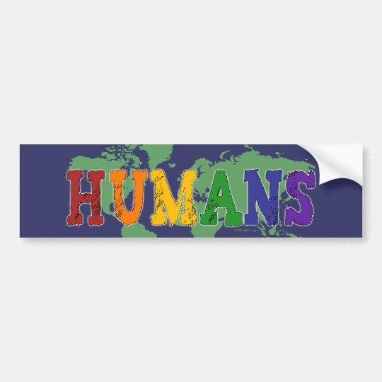Humans (Gay) Bumper Sticker