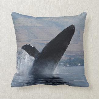 humback whale breaching cushion