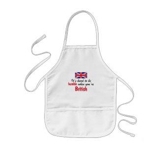 Humble British Kids' Apron
