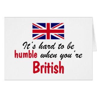 Humble British Card