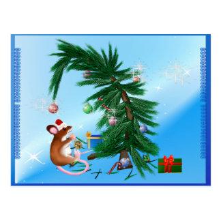 Humble Little Christmas  Mouse Postcard