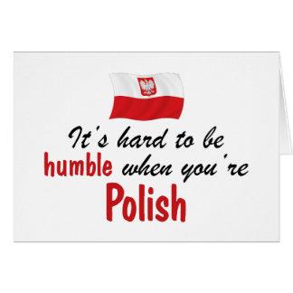 Humble Polish Greeting Card