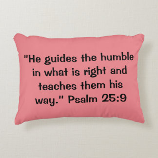 """Humble"" Scripture Accent Pillow"