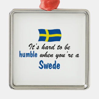 Humble Swede Silver-Colored Square Decoration