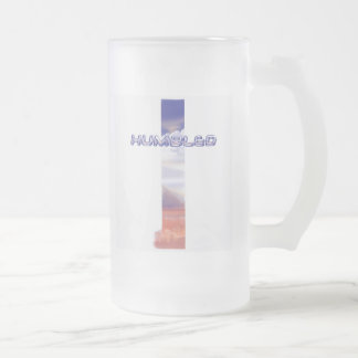 Humbled for Christ Frosted Glass Mug