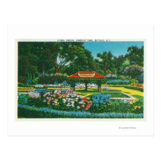 Humboldt Park Floral Emblem View Postcard