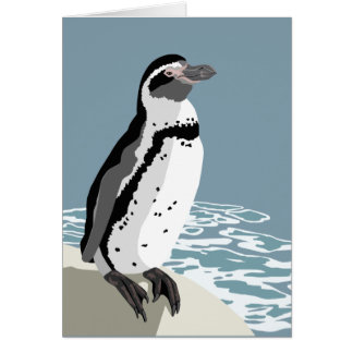Humboldt Penguin Greetings Card