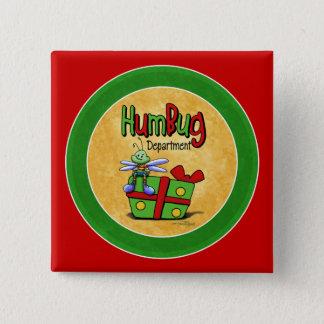 Humbug scrooge 15 cm square badge