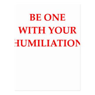 HUMILIATION POSTCARD