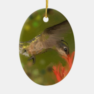 hummer drinking ceramic ornament