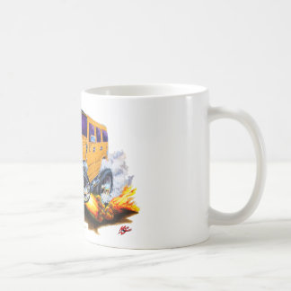 Hummer H2 Orange Truck Coffee Mug