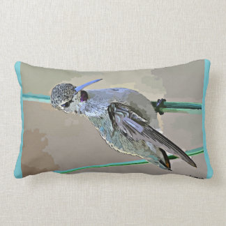 Hummer in Cartoon Custom Throw Pillow