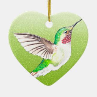 Hummer Lime Ceramic Heart Decoration