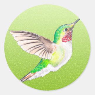 Hummer Lime Round Sticker
