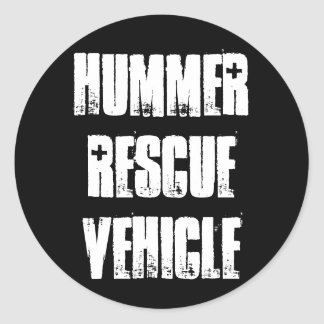 Hummer Rescue Vehicle Stickers