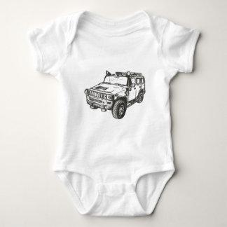 Hummer Truck Art Baby Bodysuit