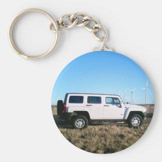 Hummer & Wind Power Key Ring