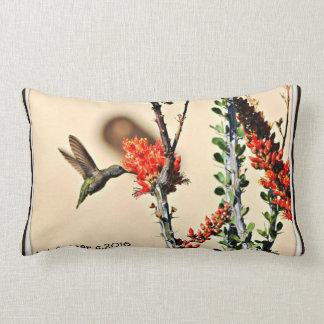 Hummer Zapping Orange Nectar Pillow