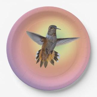 HUMMIMNGBIRD PAPER PLATE