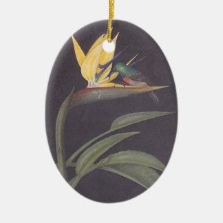 Humming bird and strelitzia wall hanging ornament