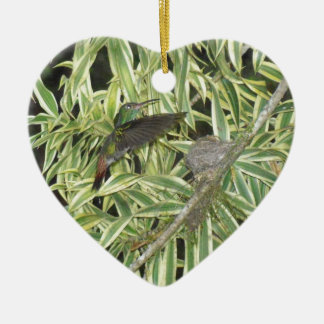 humming bird ceramic ornament