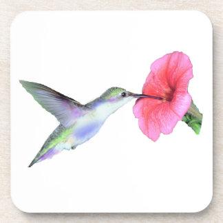 "Humming Bird Cork Coaster (6) 3.8x3.8"""