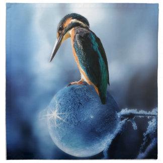 Humming Bird on Frozen Soap Bubble Macro Shot Napkin