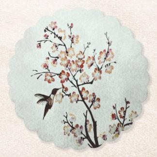 humming-bird paper coaster