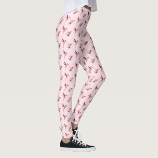 Humming Birds and Cherry Blossoms Leggings