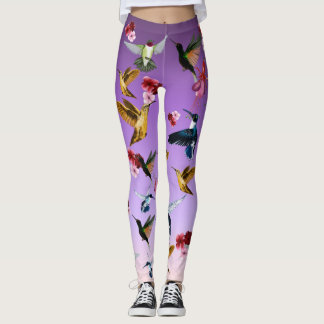 Humming Birds and Flowers Leggings