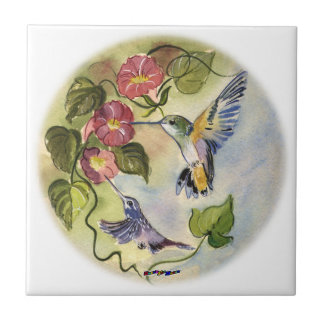 Humming Birds Small Square Tile