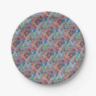 Hummingbird 7 Inch Paper Plate