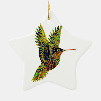 Hummingbird 7b ceramic star decoration