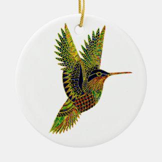 Hummingbird 7b round ceramic decoration