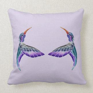Hummingbird Abstract Watercolor Cushion