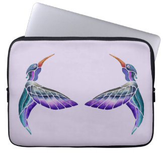 Hummingbird Abstract Watercolor Laptop Sleeve