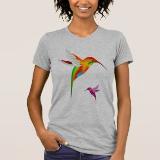 Hummingbird Abstrat Art T-Shirt