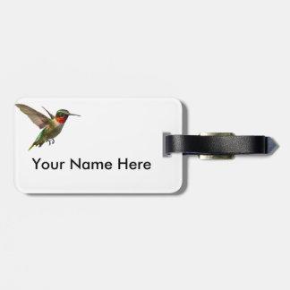 Hummingbird And Delphinium Luggage Tag