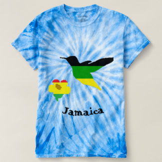 Hummingbird and flower in Jamaican and Rasta color T-Shirt
