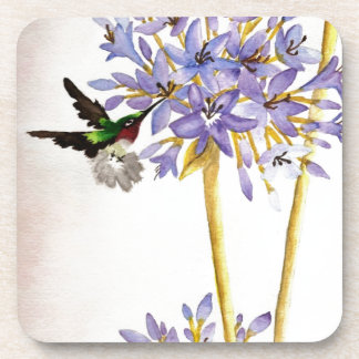 Hummingbird and Flowers Drink Coasters