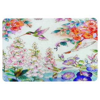 Hummingbird and Flowers Landscape Floor Mat