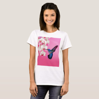 Hummingbird and Flowers T-Shirt