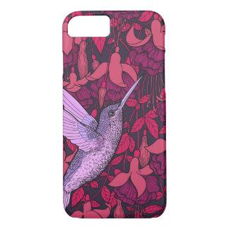 Hummingbird and fuchsia violet iPhone 8/7 case