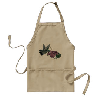 Hummingbird and Hibiscus Apron