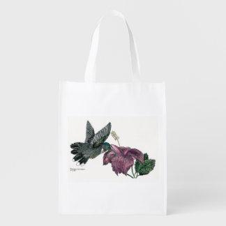 Hummingbird and Hibiscus Reusable Bag