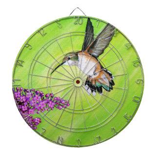 Hummingbird and Lilac Dartboard