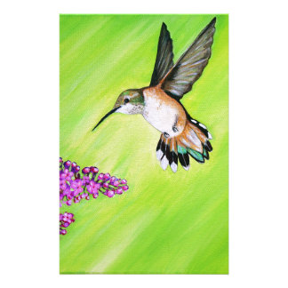 Hummingbird and Lilac Stationery