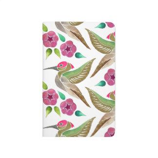 Hummingbird and Petunia Abstract Painting Journal