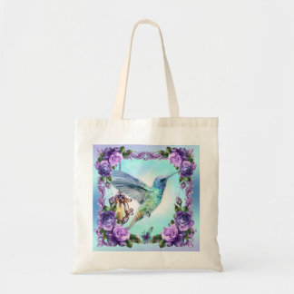 Hummingbird And Rose Budget Tote Budget Tote Bag