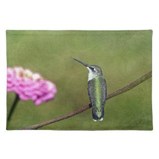 Hummingbird and Zinnia Placemat